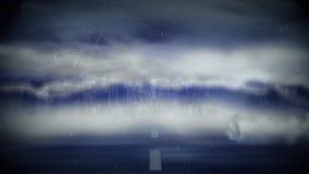 Ψηφιακή αστραπή ένας ανεμοστρόβιλος σε έναν δρόμο ελεύθερη απεικόνιση δικαιώματος