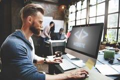 Ψηφιακή γραφική έννοια HTML Διαδικτύου ανάπτυξης Ιστού Στοκ Εικόνα