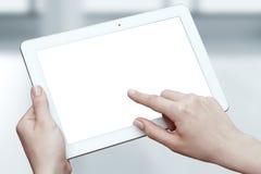ψηφιακή γυναίκα ταμπλετών &e οθόνη Έννοια τεχνολογίας επιχειρησιακού Διαδικτύου Στοκ Εικόνες