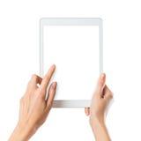 ψηφιακή γυναίκα ταμπλετών &e Στοκ Εικόνα