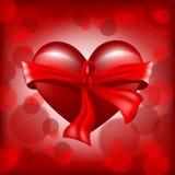 Ψηφιακή διανυσματική ρεαλιστική κόκκινη καρδιά ημέρας βαλεντίνων στοκ εικόνα με δικαίωμα ελεύθερης χρήσης
