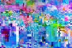Ψηφιακή δυσλειτουργία TV στην τηλεοπτική οθόνη ελεύθερη απεικόνιση δικαιώματος