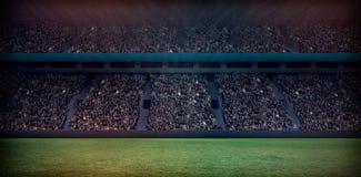 Ψηφιακή εικόνα του συσσωρευμένου σταδίου ποδοσφαίρου τρισδιάστατου Στοκ φωτογραφία με δικαίωμα ελεύθερης χρήσης