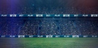 Ψηφιακή εικόνα του συσσωρευμένου σταδίου ποδοσφαίρου τρισδιάστατου Στοκ εικόνα με δικαίωμα ελεύθερης χρήσης
