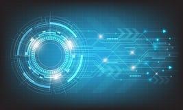 Ψηφιακή επιχείρηση, διανυσματικοί κύκλος τεχνολογίας και υπόβαθρο τεχνολογίας Στοκ εικόνες με δικαίωμα ελεύθερης χρήσης