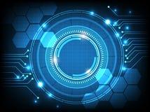 Ψηφιακή επιχείρηση, διανυσματικοί κύκλος τεχνολογίας και υπόβαθρο τεχνολογίας Στοκ Εικόνα