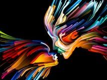 Ψηφιακή ζωγραφική μυαλού Στοκ φωτογραφία με δικαίωμα ελεύθερης χρήσης