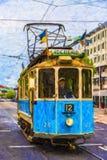 Ψηφιακή ζωγραφική τραμ του Γκέτεμπουργκ δημόσια Στοκ Φωτογραφία