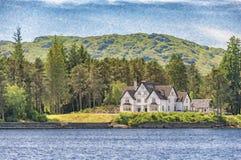 Ψηφιακή ζωγραφική Katrine λιμνών Στοκ Εικόνες