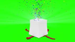 Ψηφιακή ζωτικότητα της ανατίναξης δώρων γενεθλίων διανυσματική απεικόνιση
