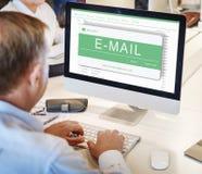 Ψηφιακή ηλεκτρονική έννοια επικοινωνίας μηνυμάτων ηλεκτρονικού ταχυδρομείου Στοκ Εικόνες
