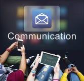 Ψηφιακή ηλεκτρονική γραφική έννοια στοιχείων μηνυμάτων ηλεκτρονικού ταχυδρομείου Στοκ Εικόνα