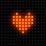 ψηφιακή καρδιά διανυσματική απεικόνιση