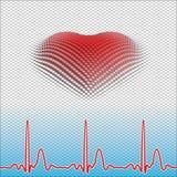 Ψηφιακή καρδιά Στοκ εικόνες με δικαίωμα ελεύθερης χρήσης