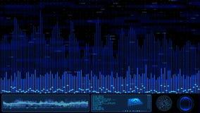 Ψηφιακή μπλε οθόνη Hud απόθεμα βίντεο