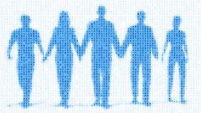 Ψηφιακή ομάδα εργατικού δυναμικού των ανθρώπων απεικόνιση αποθεμάτων