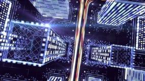 Ψηφιακή πόλη νύχτας - γραφική παράσταση κινήσεων ελεύθερη απεικόνιση δικαιώματος
