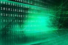 Ψηφιακή σειρά έννοιας υποβάθρου δυαδικού κώδικα Στοκ Εικόνες