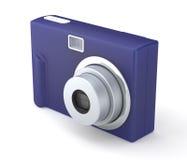 Ψηφιακή συμπαγής κάμερα φωτογραφιών στο λευκό Στοκ Φωτογραφία