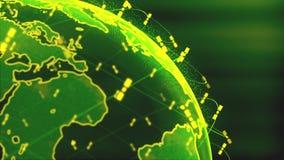 Ψηφιακή σφαίρα γήινων στοιχείων - αφηρημένοι τρισδιάστατοι δορυφόροι απόδοσης starlink τηλεοπτική σύνδεση δικτύων ο κόσμος δορυφό διανυσματική απεικόνιση