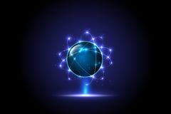 ψηφιακή σφαιρική έννοια τεχνολογίας, αφηρημένο υπόβαθρο στοκ εικόνα