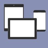 Ψηφιακή τάση παραγωγής συσκευών αντίστοιχα, σχέδιο για την παρουσίαση Ιστού στο σύνολο εικονιδίων Στοκ εικόνες με δικαίωμα ελεύθερης χρήσης