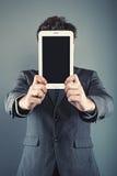 ψηφιακή ταμπλέτα επιχειρηματιών στοκ εικόνες