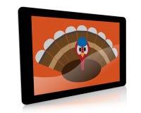 Ψηφιακή ταμπλέτα με την ημέρα των ευχαριστιών Τουρκία Στοκ Εικόνες