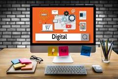 Ψηφιακή τεχνολογία συσκευών επιχειρησιακής ομάδας ψηφιακή, ψηφιακό Busine Στοκ εικόνες με δικαίωμα ελεύθερης χρήσης