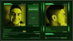 Ψηφιακή φουτουριστική γωνία καρφιτσών γωνιών διεπαφών σχεδιαγράμματος στρατιωτών στρατού - mia φιλμ μικρού μήκους
