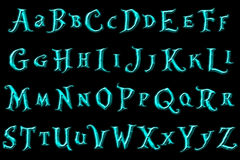 Ψηφιακή χώρα των θαυμάτων φαντασίας αλφάβητου λευκώματος αποκομμάτων Στοκ Φωτογραφία