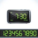 Ψηφιακοί αριθμοί ξυπνητηριών Στοκ Εικόνες