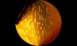 ψηφιακοί αριθμοί σφαιρών στοκ εικόνα