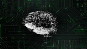 Ψηφιακοί εγκέφαλος και κύκλωμα ελεύθερη απεικόνιση δικαιώματος