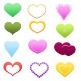 Ψηφιακοί καλλωπισμοί καρδιών διανυσματική απεικόνιση