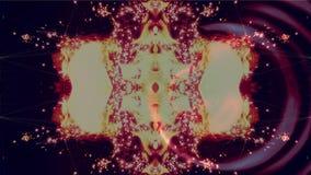 Ψηφιακοί σφαίρα και κύκλοι που κινούνται σε μια έκρηξη και ένα υπόβαθρο πυροτεχνημάτων διανυσματική απεικόνιση