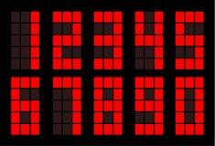 Ψηφιακός αριθμός κόκκινων τετραγώνων διανυσματική απεικόνιση