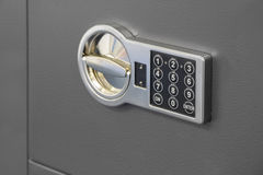 Ψηφιακός ασφαλής κώδικας κλειδαριών σε ένα χρηματοκιβώτιο στοκ φωτογραφίες