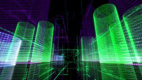 Ψηφιακός βρόχος υποβάθρου πόλεων αναδρομικός καμμένος ελεύθερη απεικόνιση δικαιώματος