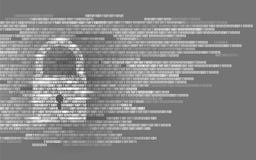 Ψηφιακός δυαδικός κωδικός αριθμός σημαδιών φρουράς κλειδαριών Μεγάλη τεχνολογία ασφάλειας προσωπικής πληροφορίας στοιχείων Άσπρη  Στοκ φωτογραφία με δικαίωμα ελεύθερης χρήσης