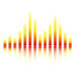 ψηφιακός εξισώστε τον ήχο Στοκ εικόνες με δικαίωμα ελεύθερης χρήσης