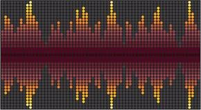 Ψηφιακός ζωηρόχρωμος εξισωτής σημείων Δημιουργικό φωτεινό υγιές κύμα Αφηρημένο σκοτεινό κυμαιμένος υπόβαθρο Σχέδιο του μουσικού σ ελεύθερη απεικόνιση δικαιώματος