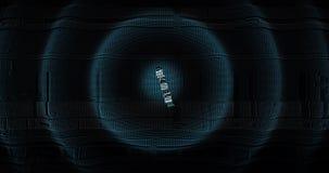 Ψηφιακός και φουτουριστικός τρισδιάστατος αντίθετος υπολογισμός κάτω από δέκα έως μηδέν Μεγάλοι αριθμοί που ζωντανεύουν για τις ε απόθεμα βίντεο