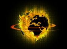 Ψηφιακός κόσμος ήλιων Στοκ εικόνες με δικαίωμα ελεύθερης χρήσης