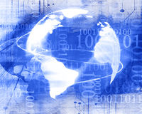 Ψηφιακός κόσμος με το κενό διάστημα ελεύθερη απεικόνιση δικαιώματος