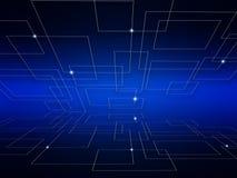 Ψηφιακός κόσμος τεχνολογίας Υπόβαθρο επιχειρησιακής εικονικό έννοιας διανυσματική απεικόνιση