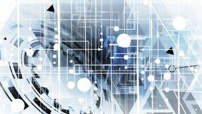 Ψηφιακός κόσμος τεχνολογίας Επιχειρησιακή εικονική έννοια διάνυσμα Στοκ εικόνα με δικαίωμα ελεύθερης χρήσης