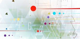 Ψηφιακός κόσμος τεχνολογίας Επιχειρησιακή εικονική έννοια διάνυσμα Στοκ Εικόνα