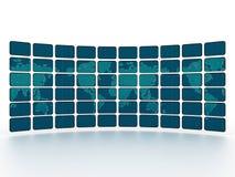 ψηφιακός κόσμος τοίχων TV χα& Στοκ Φωτογραφία