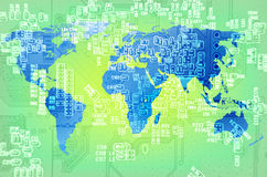 Ψηφιακός κόσμος techno Στοκ εικόνα με δικαίωμα ελεύθερης χρήσης